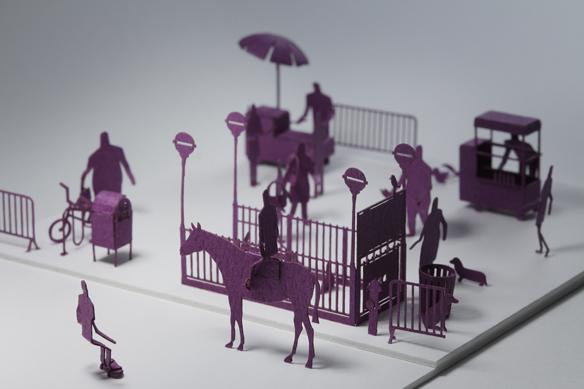 Paper Model of New York City Subway Entrance by Terada Mokei
