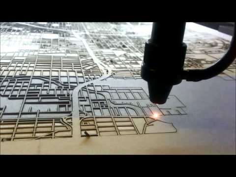 Laser Cutting City Street Maps