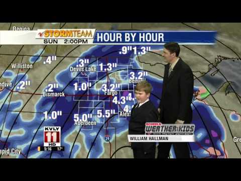 9-Year-Old Boy Acts as the Weatherman on a North Dakota TV Station