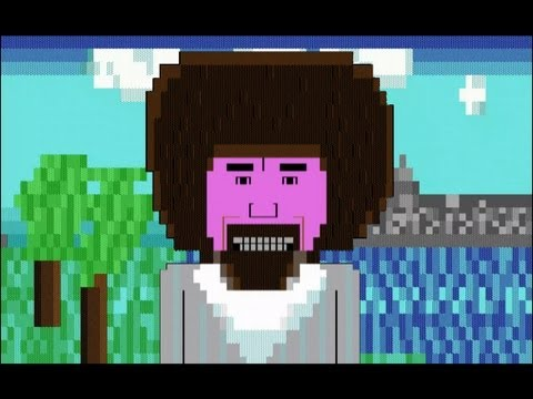 The Joy of ASCII with Bob Ross, An Animated ASCII Art Spin on The Joy of Painting