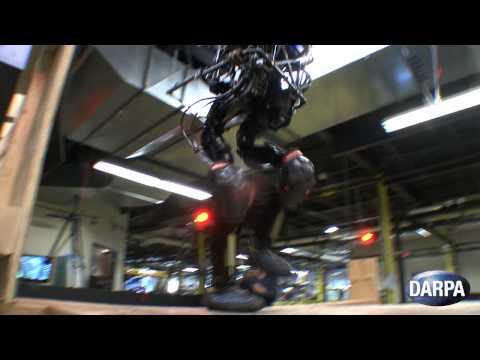 DARPA Humanoid Robot Climbs Stairs