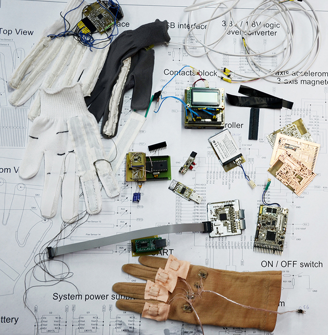 Dismantled EnableTalk Glove
