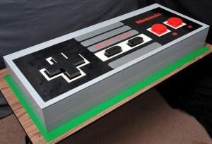 Giant LEGO NES Controller by Julius von Brunk