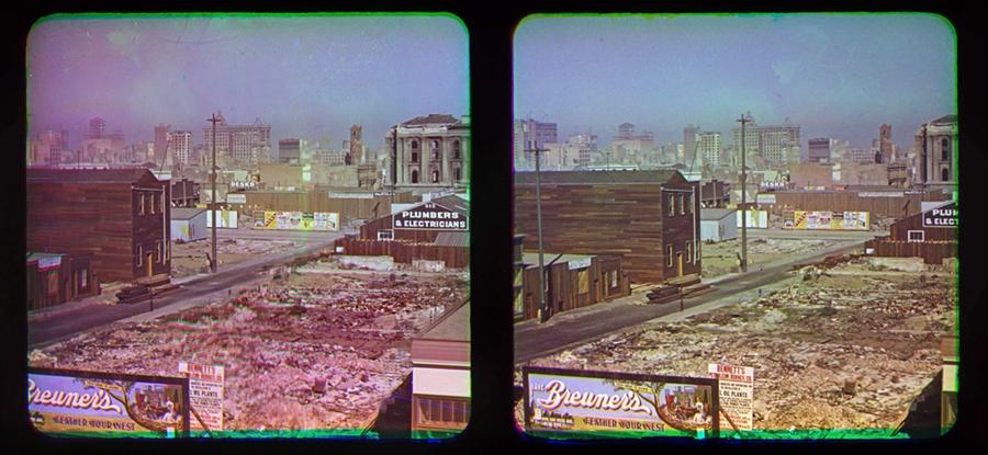 Color Photos of San Francisco Taken After 1906 Earthquake & Fire