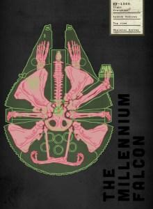 Spaceship Skeletal Survey: The Millennium Falcon by Josh Lane