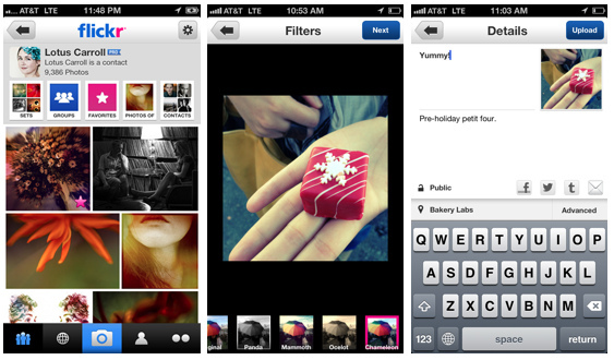 Flickr iOS app
