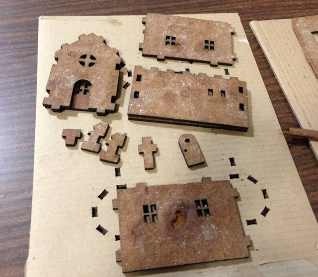 Gingerbread pieces