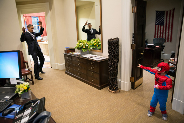 Spider-Man Catches Obama in His Web