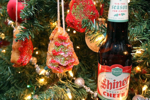 Fried Beer-Battered Xmas Tree Ornaments, Made With Snack Cakes