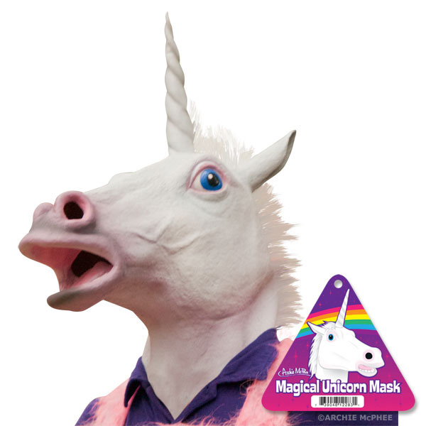 Magical Unicorn Mask & Cult of Unicorn by Archie McPhee Unicorn Head Mask Amazon