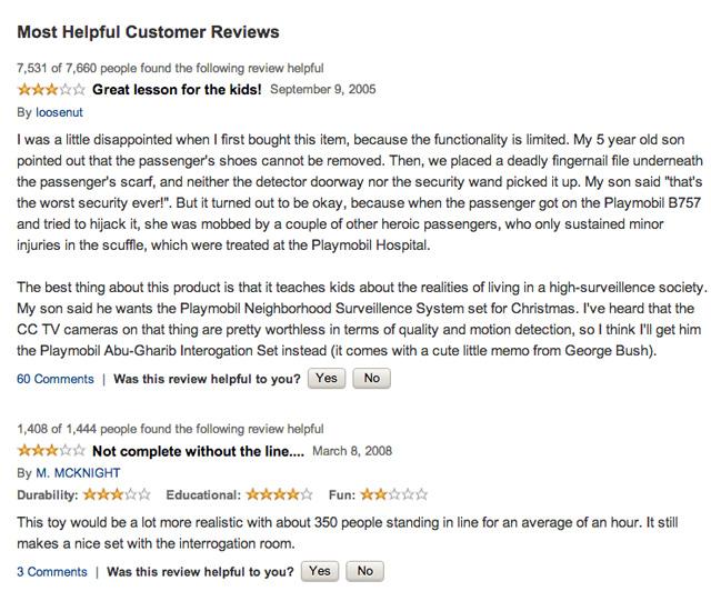 Playmobil reviews