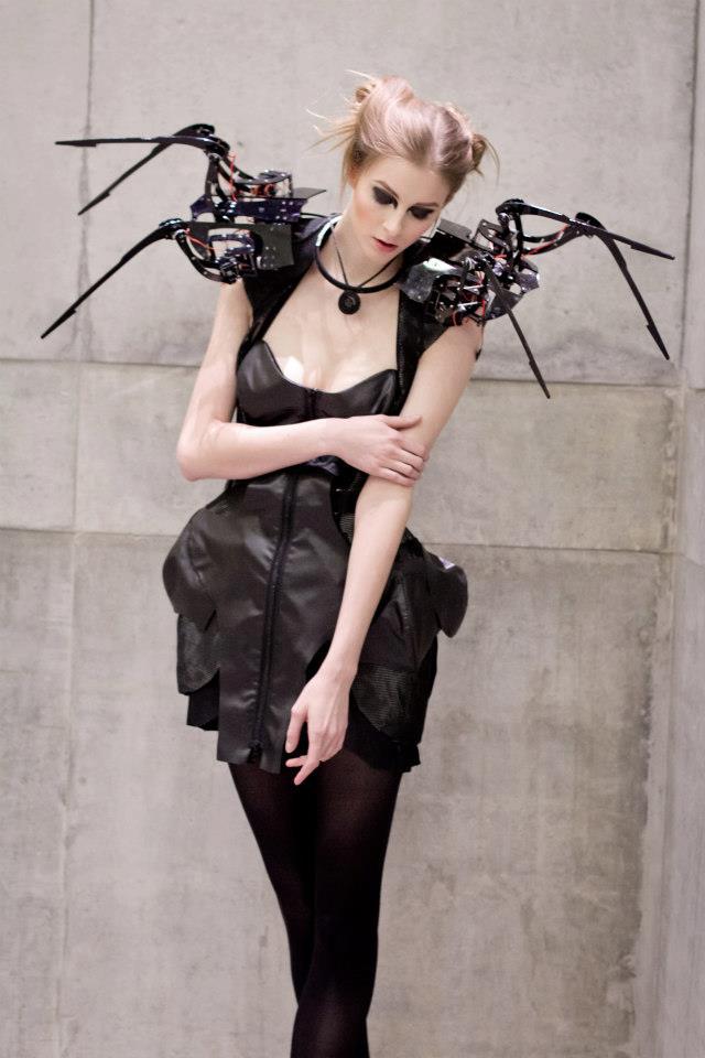 Robotic Spider Dress High Tech Creepy Couture