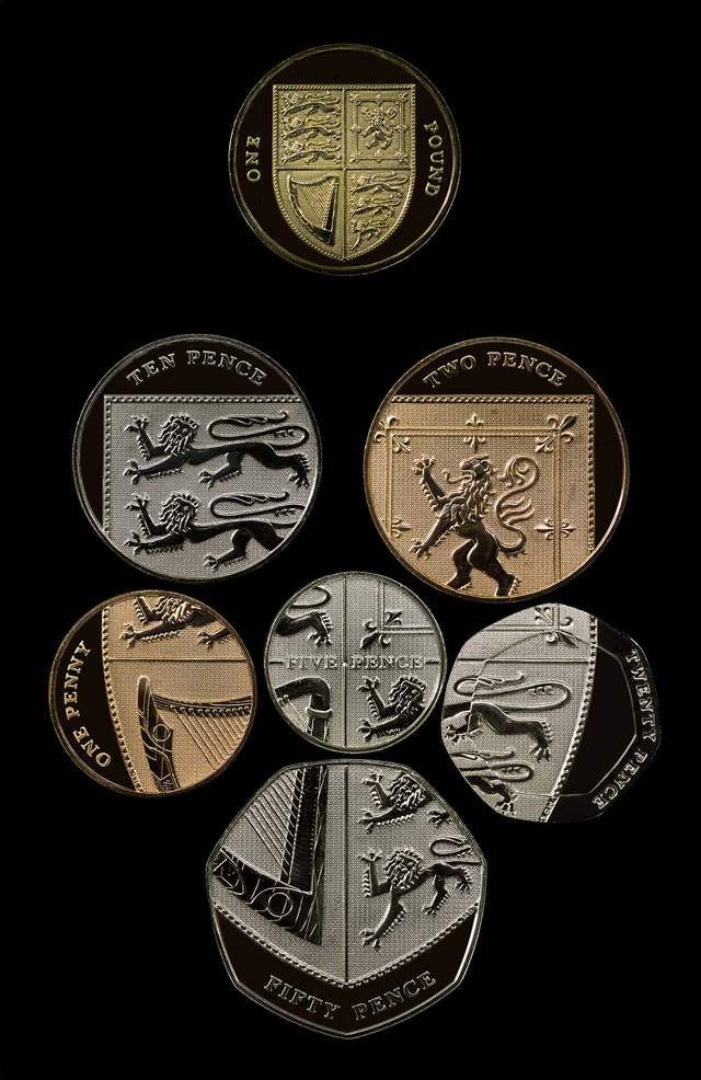 British Coins Can Be Assembled into Royal Coat of Arms