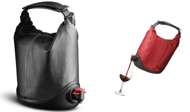 Baggy Winecoat, A Portable Bag-In-Box Wine Purse