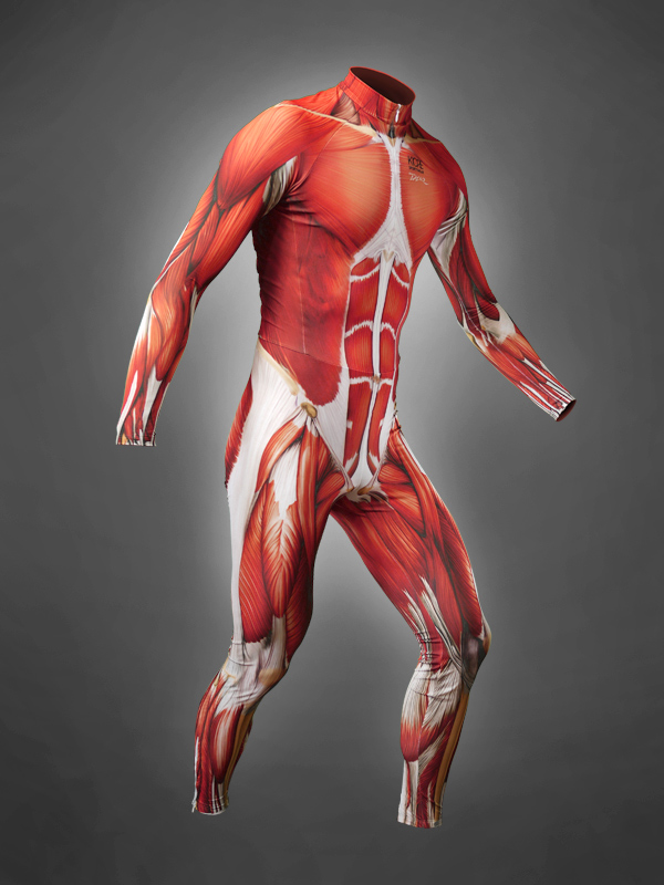 Muscle Skin Suits for Bicyclists, Looks Like Exposed Muscle Flesh