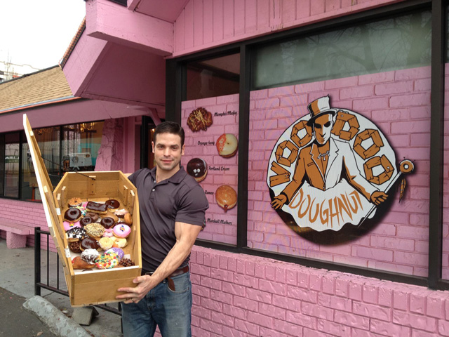 Google Home Donuts >> Man Eats a Coffin Full of Voodoo Doughnuts