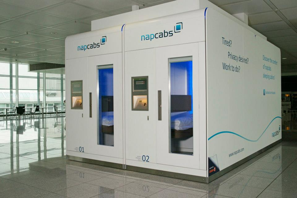 Napcabs Miniature Sleeping Cabins For Airport Terminals