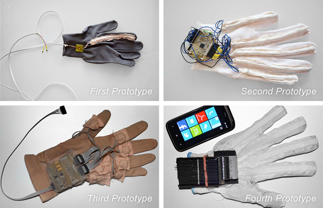 EnableTalk Glove Prototypes