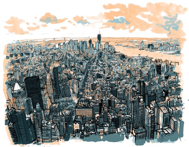 Empire State of Pen Colored by Patrick Vale