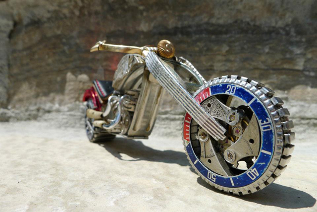 Custom Chopper - Red White and Blue