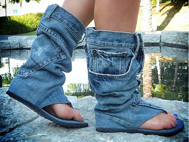 Jeans Sandal Boots