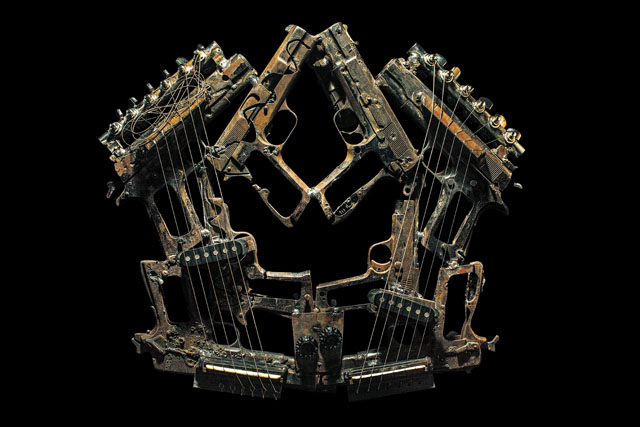 Imagine musical gun instruments by Pedro Reyes