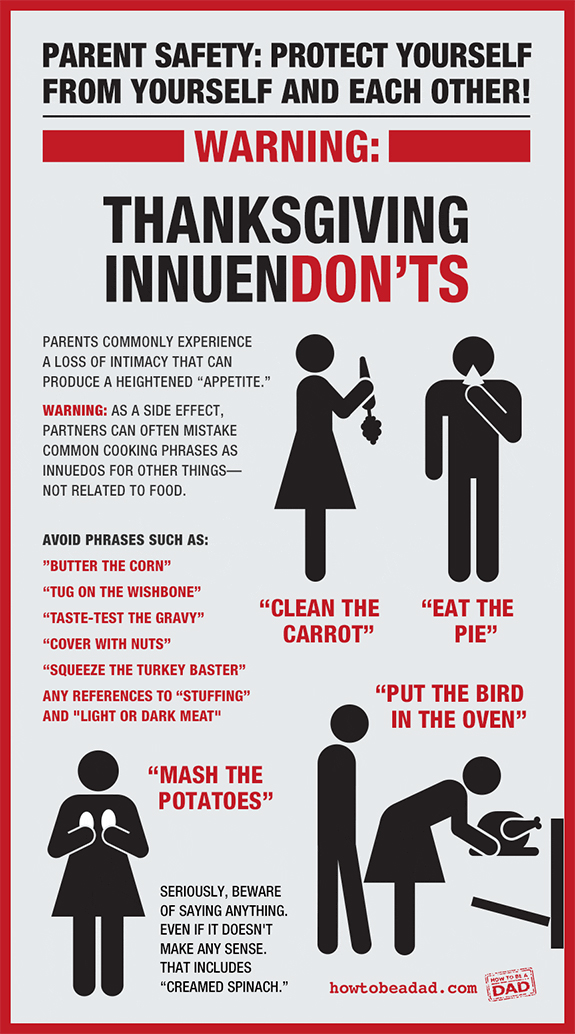 A Helpful List of Sexual 'Thanksgiving InnuenDON'TS' to Watch Out For