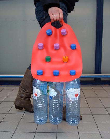 Bottled returnable bottle carrier by Ka-Lai Chan