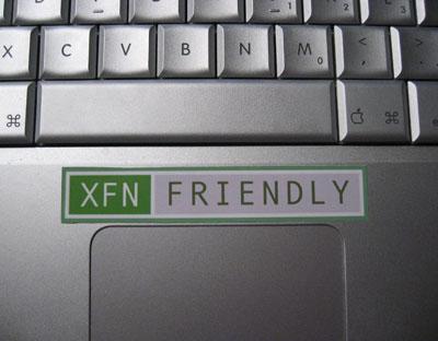 XFN Friendly Sticker