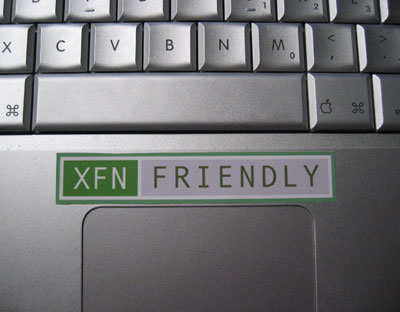 XFN Friendly Sticker