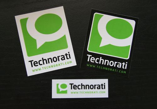 Technorati stickers