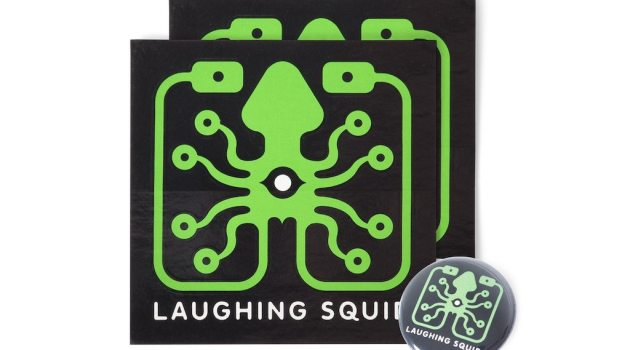Laughing Squid Stickers Button