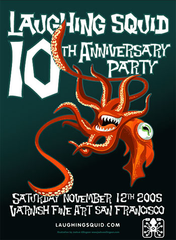 Laughing Squid 10th Anniversary Party Poster