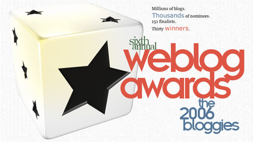Sixth Annual Weblog Awards (2006 Bloggies)