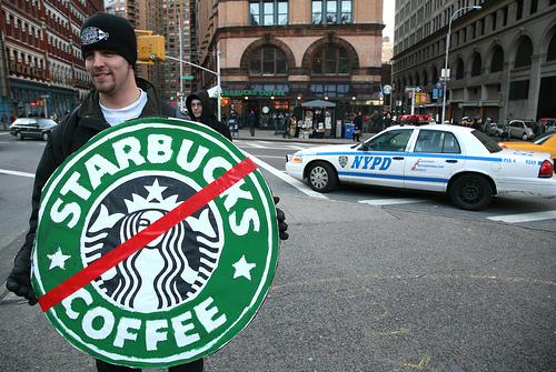 Reverend Billy Arrested at Astor Place Starbucks Protest