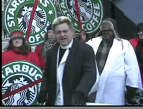 Reverend Billy Arrested for Performing Exorcism on Starbucks