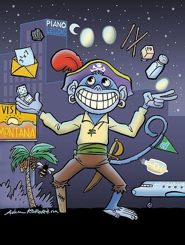 Ape Lad's Mnemonic MonKey Pirate HD DVD Key Puzzle