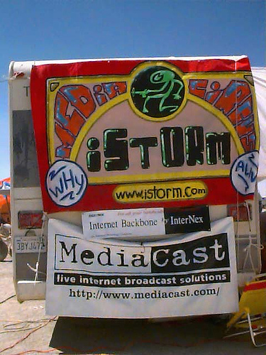 Burning Man 1996 Website and Netcast by iSTORM