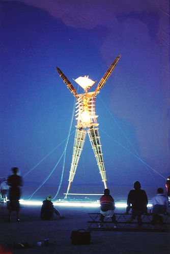 Burning Man 1990-1995 Photos, The Birth of Black Rock City