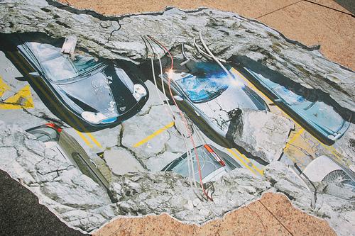 Giant Earthquake Crack Splits San Francisco's Union Square