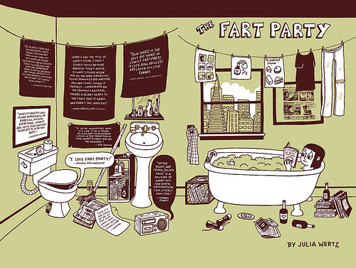 The Fart Party Book by Julia Wertz