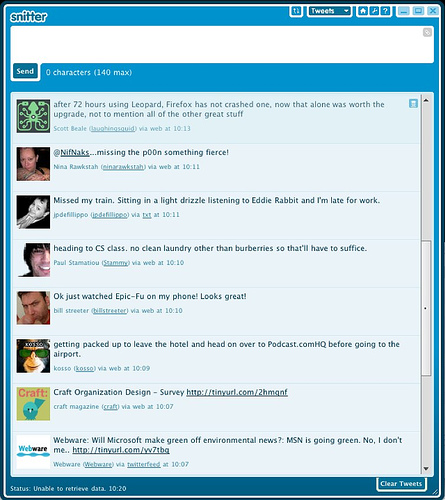 Snitter, A Desktop App for Twitter Powered by Adobe AIR