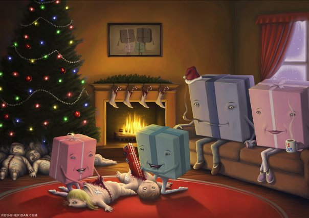 'Presents Opening Children' by Rob Sheridan