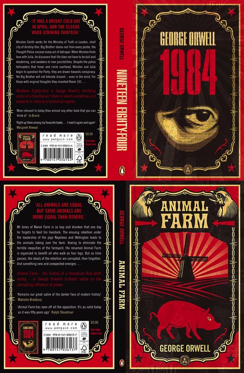 Shepard Fairey Designs Covers For New 1984 & Animal Farm
