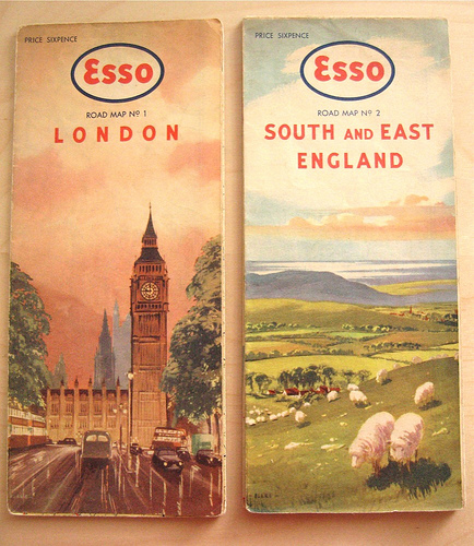 Collection of 1950's Road Maps