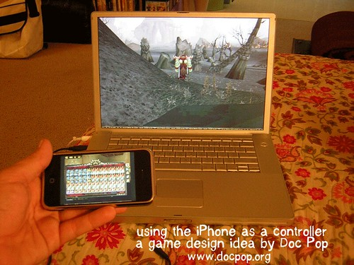 The iPhone as a controller concept