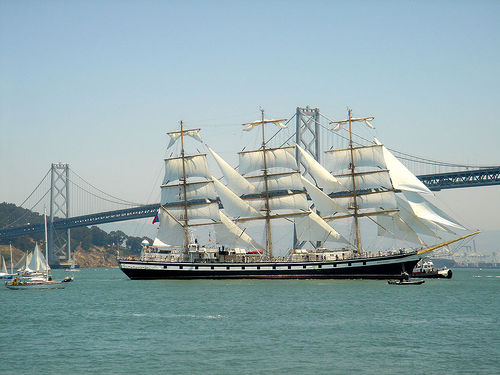 Festival of Sail – Parade of Tall Ships Under the Golden Gate Bridge
