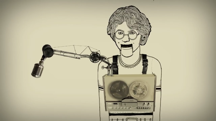 Animation of When 14 Year Old Beatles Fan Snuck Into John Lennon's Hotel Room To Interview Him