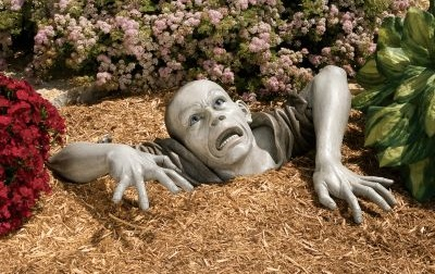 Zombie Garden Sculpture by Alan Dickinson