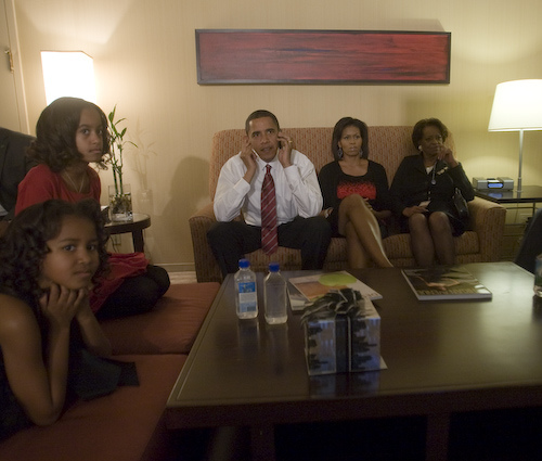 Behind The Scenes Photos of Obama Watching Election Results